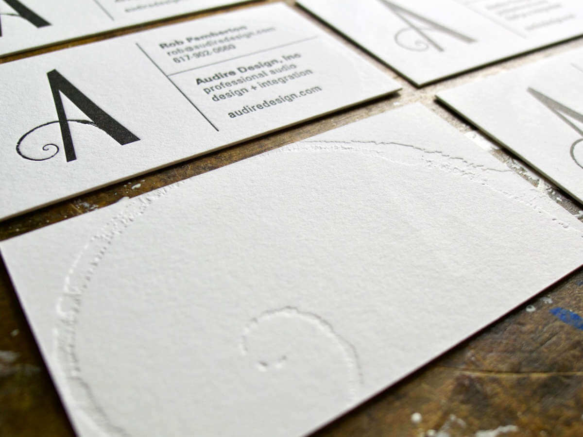 Audire letterpress business card